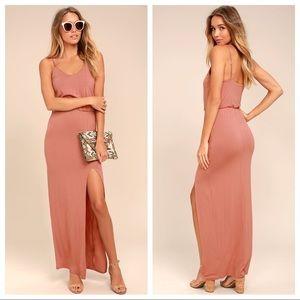NWT Watch The Sunset Rusty Rose Maxi Dress